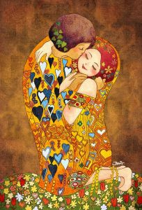 klimts kiss animated